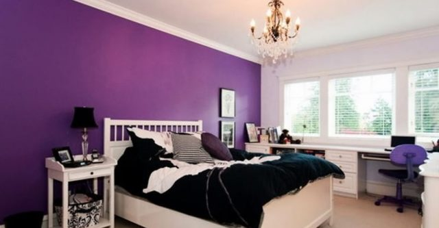 Purple And White Bedroom And Pink And Blue Bedroom - House ...