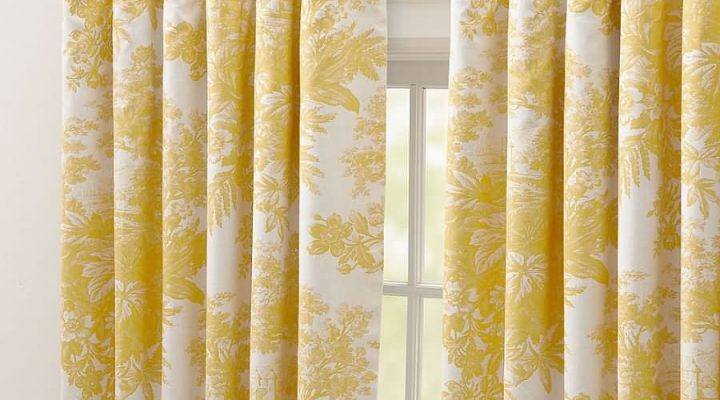 Yellow Curtains for Living Room as the Cheerful Room