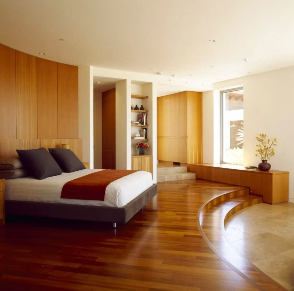 bamboo as a flooring material for bedroom design ideas.