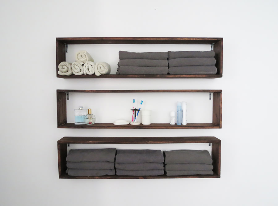 Bedroom Quick Shelving Idea.