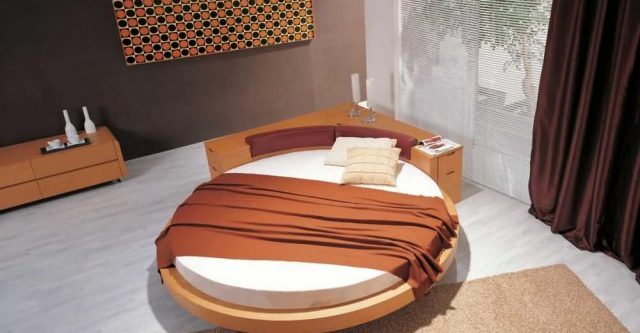 Having High Aesthetic Value with Cheap Round Beds with Flower Decor.