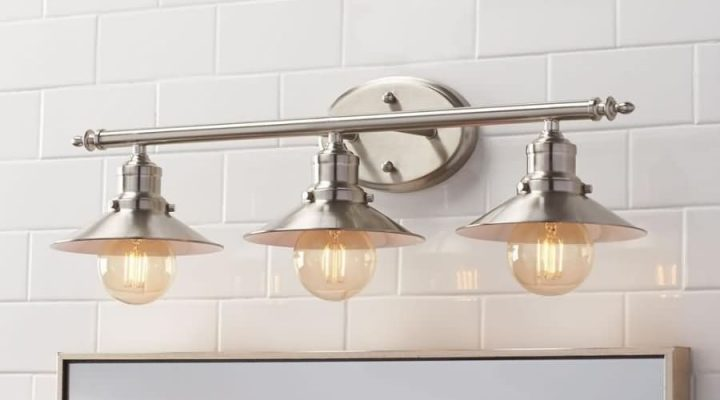 Play with Retro Bathroom Lighting and Rustic to Create Different Feel.