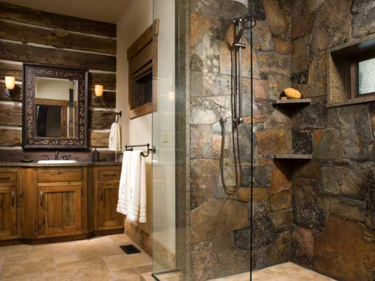 Vanity rustic style is usually made of wood design ideas.