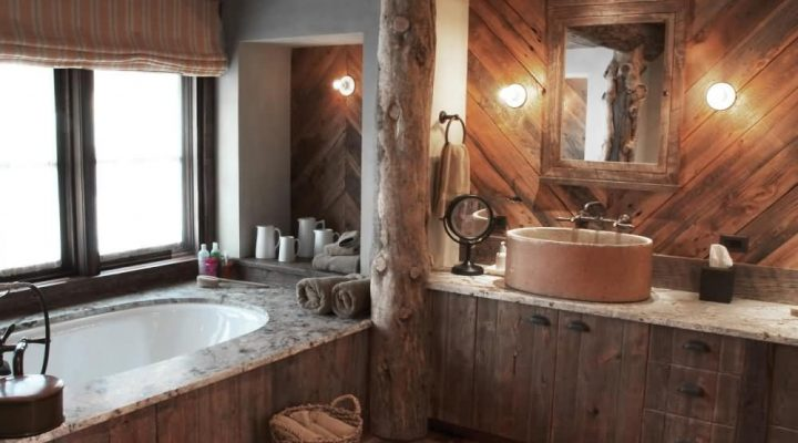 Warm and Comfort by Rustic Bathroom Fixtures and Accessories.